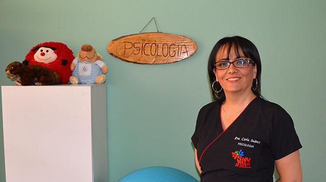 Carla Su�rez, psic�loga de la Fundaci�n Centro San Juan de Jerusal�n.