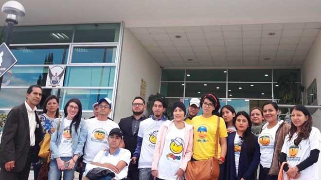 Pacientes de la Fundaci�n J�venes Contra el C�ncer.