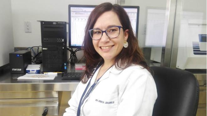 Gabriela Jaramillo, Laboratorio de Biología Molecular del HEEE.