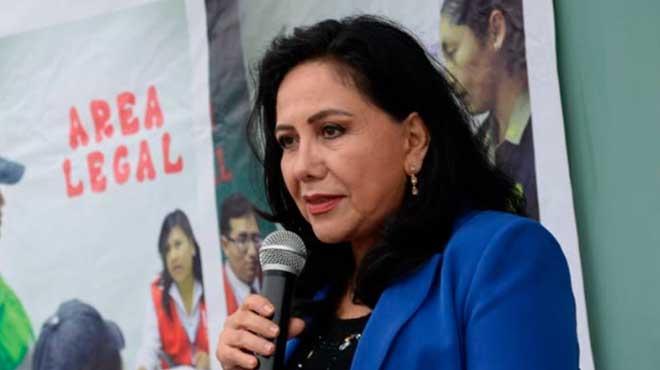 Gloria Montenegro, titular del MIMP.