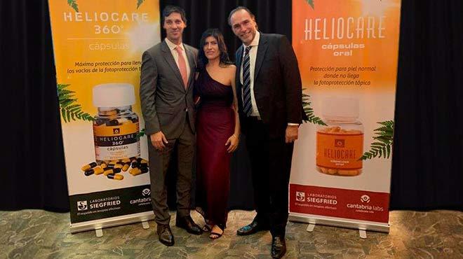Pedro Alonso Hidalgo, gerente de Corporaci�n Siegfried, Karina Erreyes, gerente l�nea dermatol�gica y Sergio Schalka, dermat�logo y coordinador del Consenso Brasile�o en Fotoprotecci�n.