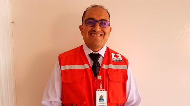 Henry Ochoa, coordinador de Equipos Nacionales de Intervenci�n y Atenci�n Pre Hospitalaria de la Cruz Roja.
