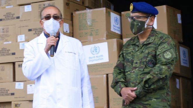 El MSP entregó al hospital cinco ventiladores mecánicos e insumos EPP.