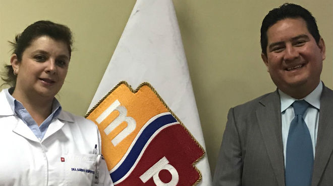 Sandra Semp�rtegui y Manuel Gonz�les.