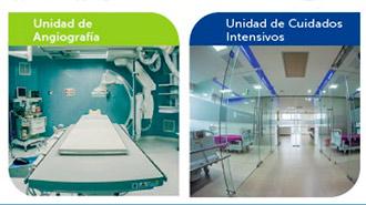 Unidades del Hospital Alianza del Ecuador.