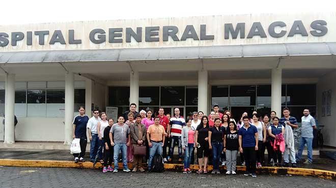 Trabajadores del Hospital General de Macas.