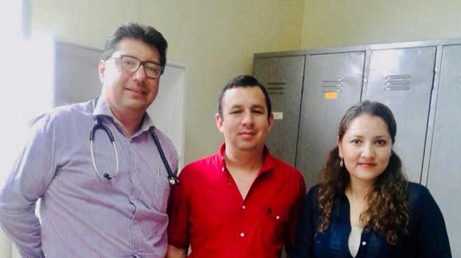 Juli�n Cuesta, Alberto Orlando, Ligia Luna