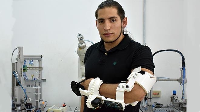 Gabriel Rivera, estudiante de la UTE.