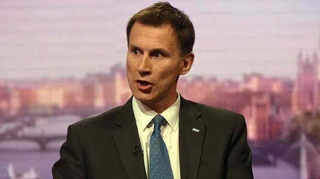Jeremy Hunt, ministro de Salud del Reino Unido
