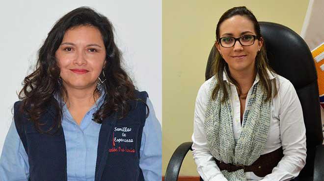 Jimena Serrano, directora de Fundaci�n Pro Sonrisa y Ver�nica Espinosa, viceministra de Gobernanza y Vigilancia del MSP.