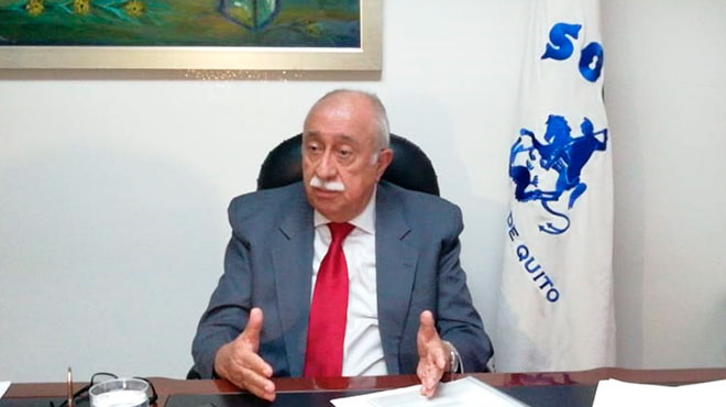 Jorge Cevallos, presidente de SOLCA Quito.