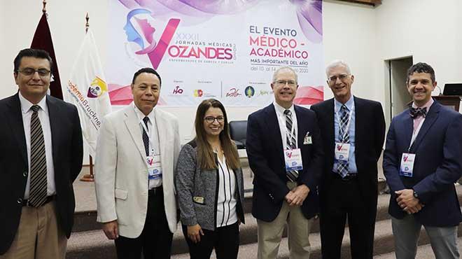 Expositores de Ecuador, Estados Unidos y Brasil inauguraron las jornadas m�dicas.