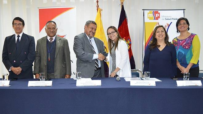 Jorge García, Francisco Vera y José Eras (FME); Verónicas Espinosa, Sonia Díaz y Patricia Granja (MSP).