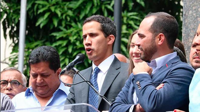 Juan Guaid�, presidente de la Asamblea y autoproclamado presidente de Venezuela pide 'mecanismos de apoyo' a la ONU.
