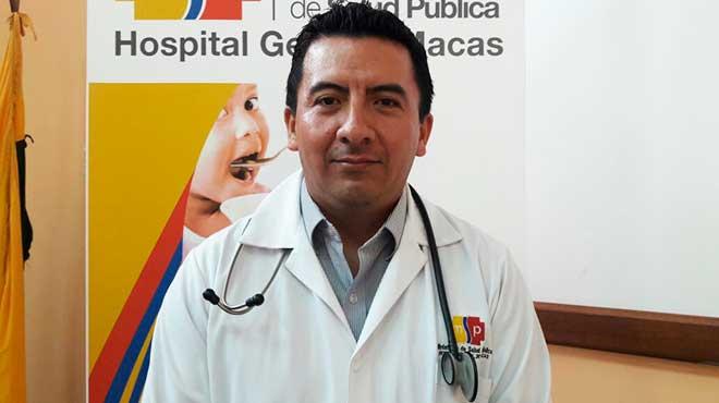 Juan Pablo Rom�n, Hospital General de Macas.