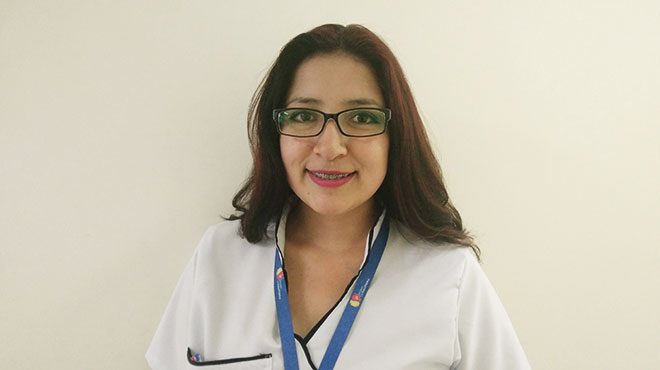 Karina Mej�a, terapista de lenguaje y auditiva del HGDC