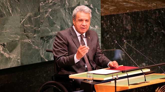 Len�n Moreno, presidente de la Rep�blica, en la 73� Asamblea General de la ONU.