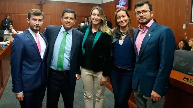 Miguel Quintero, Jorge Iván Ospina, Sara Piedrahita, Carolina Corcho y Luis Carlos Leal.
