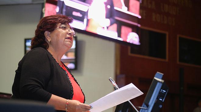 Liliana Dur�n, presidenta de la Comisi�n Permanente de Derechos de los Trabajadores y Seguridad Social.