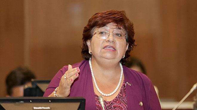 Liliana Dur�n, presidente de la Comisi�n de los Derechos de los Trabajadores.