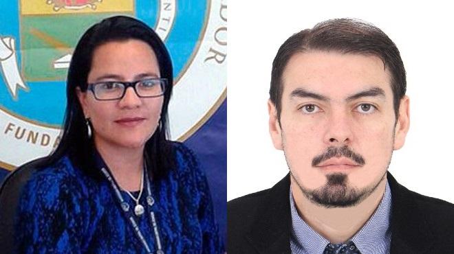 Lucy Balde�n Rojas y Jorge P�rez Galarza, investigadores de la UCE.