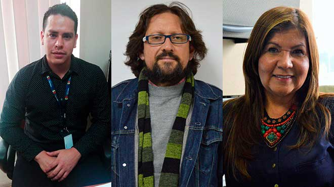 Yasir Chara (MSP), Xavier Maldonado (Alames Ecuador) y Gladys Ghisays (OPS en Ecuador)