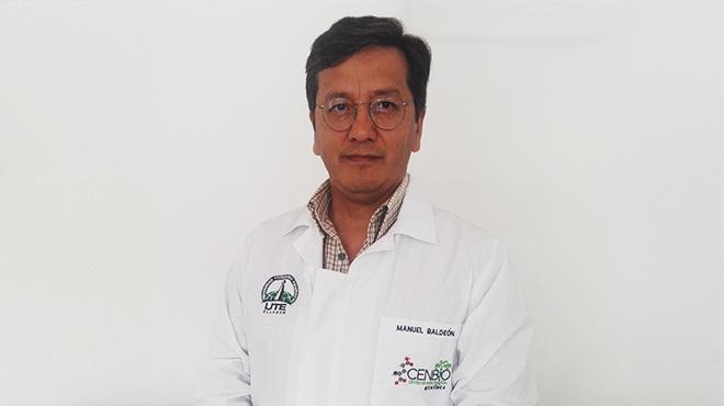Manuel Balde�n, director del Cenbio de la Universidad UTE.