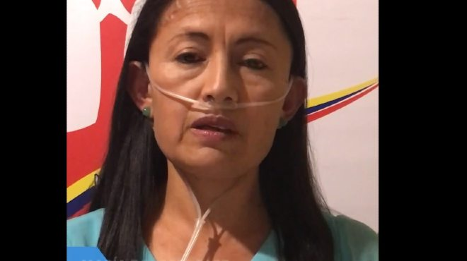 Mar�a Dolores P�ez, presidenta de la Asociaci�n de Hipertensi�n Pulmonar Ecuador.