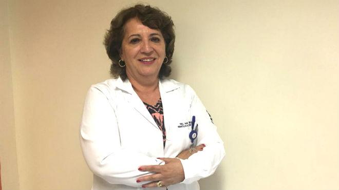 Mar�a Barba, jefa del servicio de Pediatr�a Oncol�gica de SOLCA Quito.