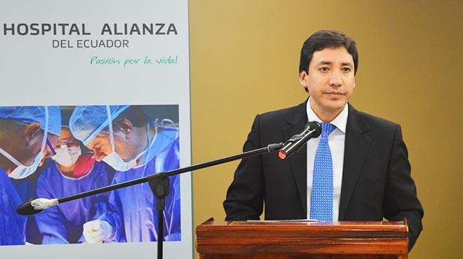 Marco Serrano, gerente general del Hospital Alianza del Ecuador
