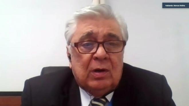 Marcos Molina, presidente de la Comisi�n del Derecho a la Salud y El Deporte.