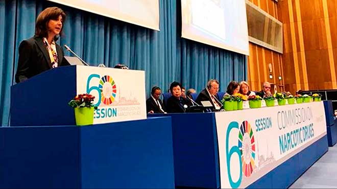 Mar�a �ngela Holgu�n, ministra de relaciones exteriores de Colombia