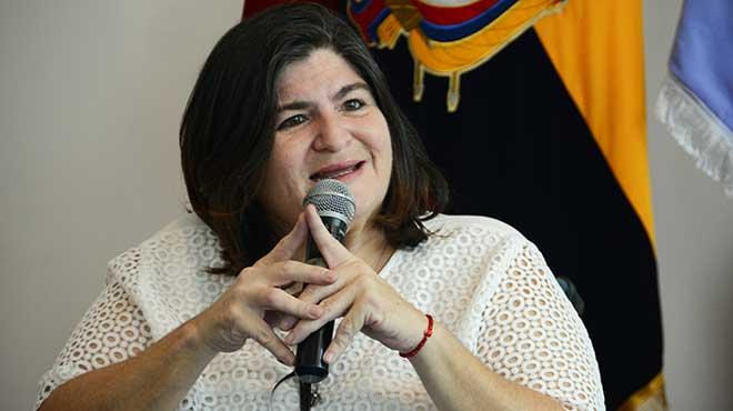 Mar�a Elsa Viteri, ministra de Finanzas.