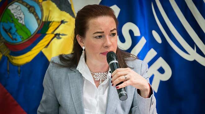 Mar�a Fernanda Espinosa, ministra de Relaciones Exteriores