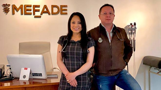 Pamela Coba y Esteban Arroyo, especialistas del Centro Mefade.