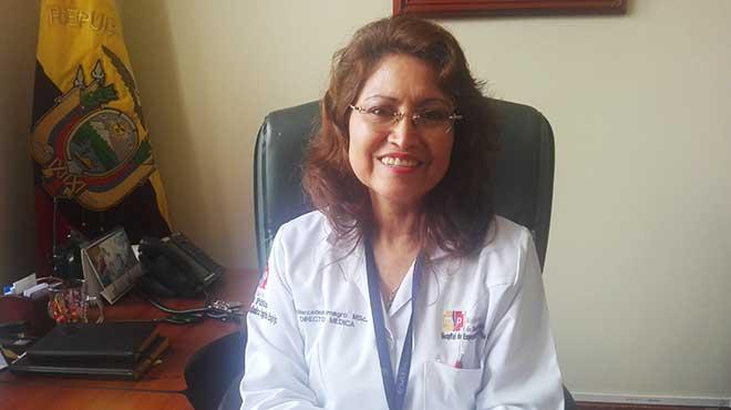 Mercedes Almagro, directora médica del Hospital de Especialidades Eugenio Espejo.