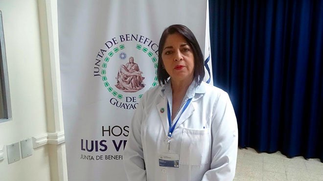 Miriam Ca�adas, jefe del departamento de Enfermer�a de HLV.