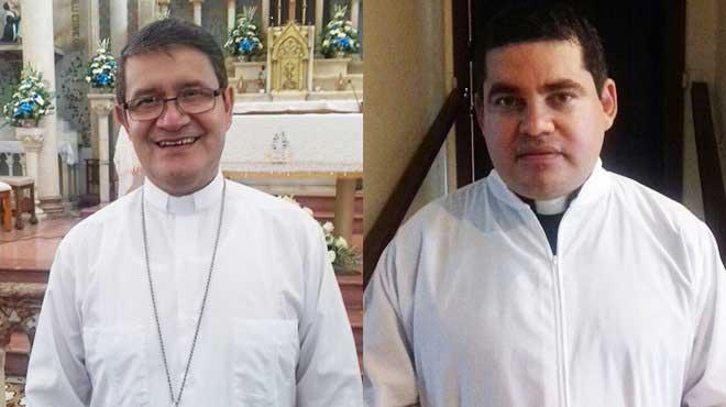 Monse�or Luis Cabrera, arzobispo de Guayaquil, y Carlos Tuarez, capell�n del Hospital Luis Vernaza
