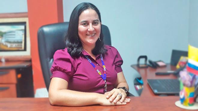 Myriam Landázuri, gerente Hospital de Tena.