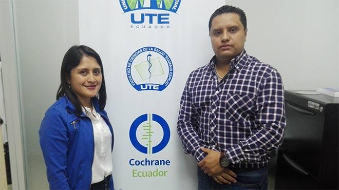 Nadia Montero y Daniel Simancas, investigadores de la UTE.