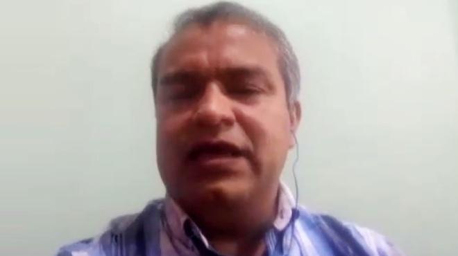 Nelson Su�rez, presidente del Colegio de M�dicos de Manab�.