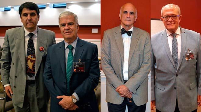 Enrique Ter�n, Hugo Caballero, Brad Rodu y Jos� Silie.