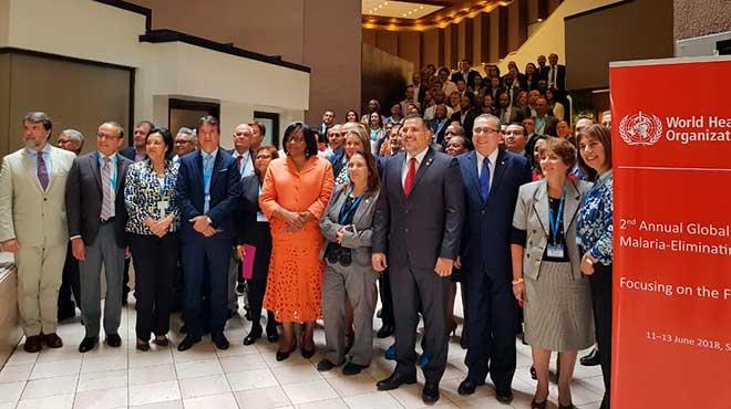 Funcionarios del Ministerio de Salud P�blica de Paraguay y de la OMS.
