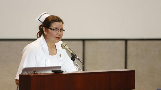 Patricia Gavil�nez, presidenta de la FEDE.
