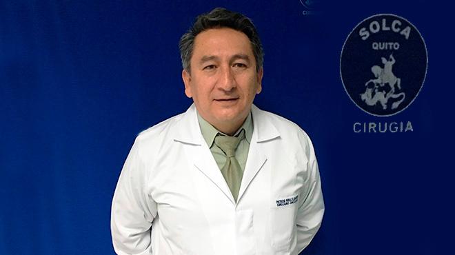 Patricio Peralta, cirujano de SOLCA.