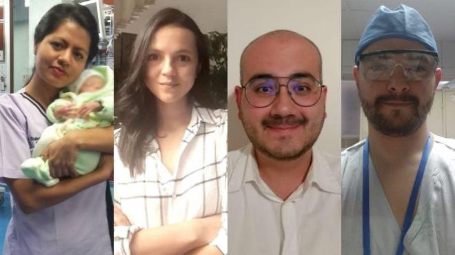 Elizabeth Fonseca, M�nica Idrovo, Ra�l Gallegos y Luis N��ez.