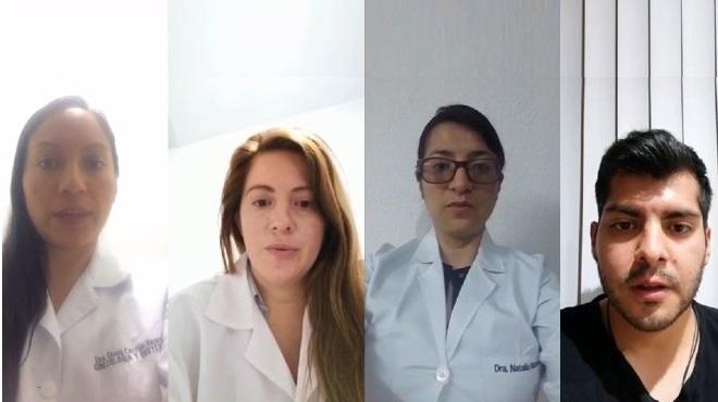Diana Carri�n, Johanna Cazar, Natalia Naveda y Ricardo Guerrero.