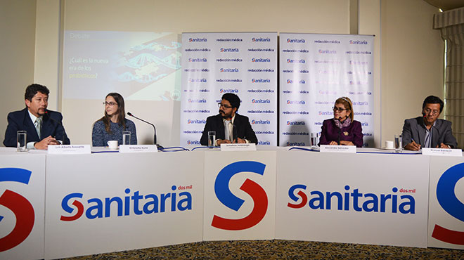Luis Alberto Bassante, Embriette Hyde, Jonathan Veletanga, Alexandra Salvador y Manuel Baldeón.