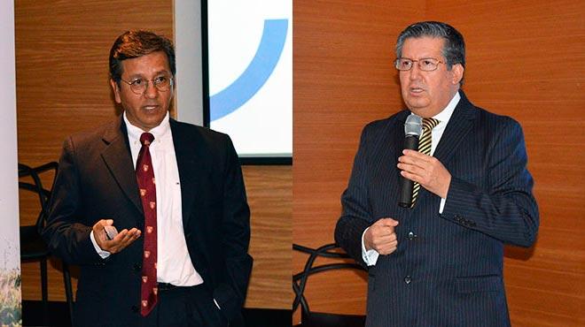 Manuel Balde�n, director del Centro de Investigaci�n Biom�dica de la UTE, y Juan Carlos Ar�valo, director m�dico de Prosirios.
