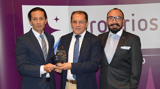 Ramiro Cazco, gerente Farma Prosirios, Edgar Mora y Juan Jos� Iglesias, investigadores.